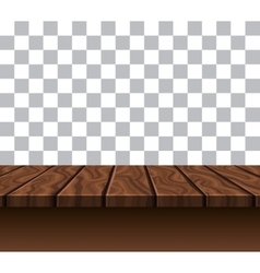 Empty Wooden Tabletop vector