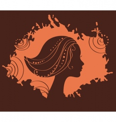 face silhouette vector image
