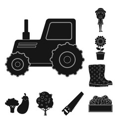 Farm and agriculture symbol vector