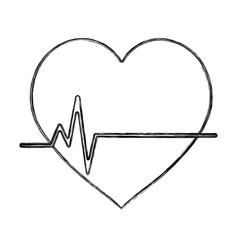 Figure frequency vital cardiac rhythm heartbeat vector