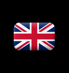 Flag of united kingdom matted icon and button vector
