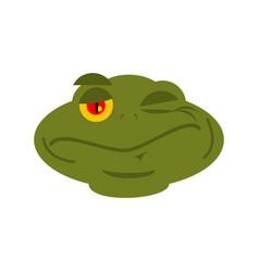 Frog winks emoji toad avatar happy amphibious vector