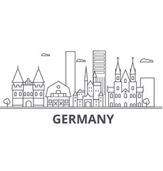 Germany architecture line skyline vector