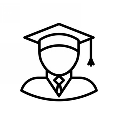 Graduate Outline Icon vector