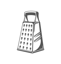 Grater isolated on white background vector