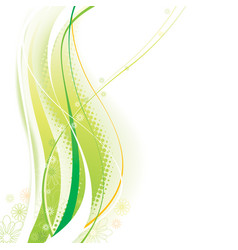 Green elements background vector