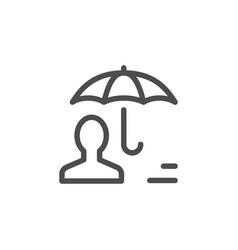 Human insurance line icon vector