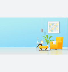 Interior background with cozy colorful living room vector