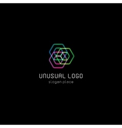 Isolated abstract polygons logo Geometry vector