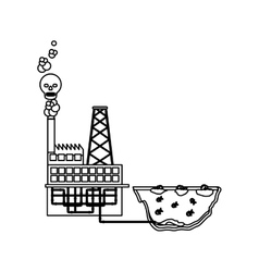 Isolated factory and pollution design vector image