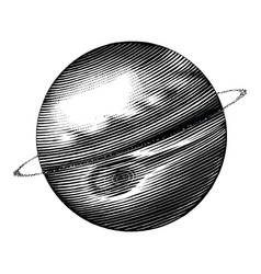 jupiter hand drawing vintage style black and vector image