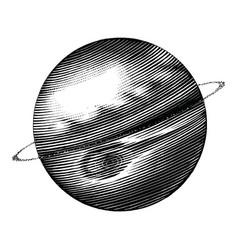 jupiter hand drawing vintage style black and vector image