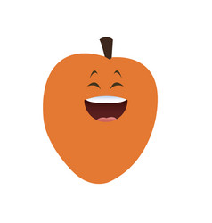 Kawaii apricot fruit food diet vector