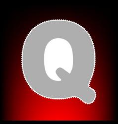 letter q sign design template element postage vector image