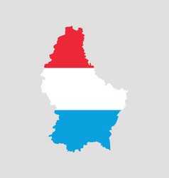 luxembourg map with the official flag vector image