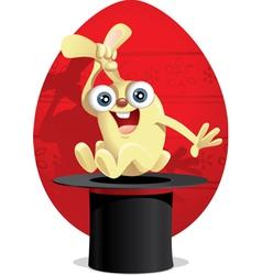 Magic Easter Bunny Cartoon vector image