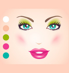 make up face vector image
