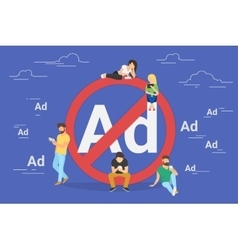 Mobile ad prohibition concept vector image