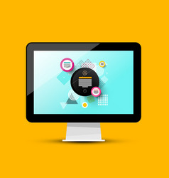 modern web design on computer screen 3d pc vector image