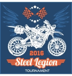 Motocross Tournament emblem vector image