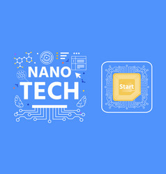 nano tech lettering advertising abstract banner vector image