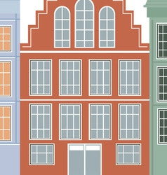 Original houses with the current paint vector image