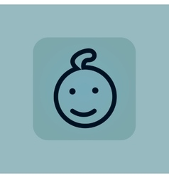 Pale blue child icon vector
