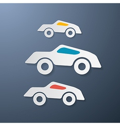 Paper retro cars vector
