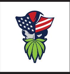 Patriot cannabis vector
