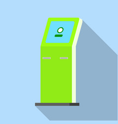 payment kiosk icon flat style vector image