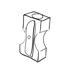 Pencil sharpener icon Instrument design vector image