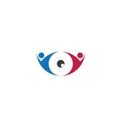 people eye logo optical shop icon design vector image