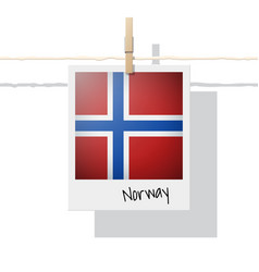 photo of norway flag vector image