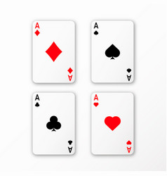 playing cards ace set casino card vector image