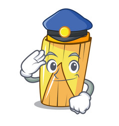 Police homemade wrapped tamales isolated on mascot vector