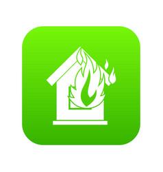 preventing fire icon digital green vector image