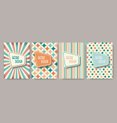 retro design templates for brochure covers banners vector image