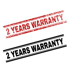 Scratched textured and clean 2 years warranty vector