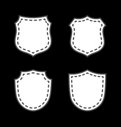 shield icons set vector image