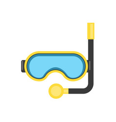 snorkel mask - equipment for diving or relaxing at vector image