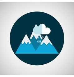 snowy mountains rain weather concept design vector image