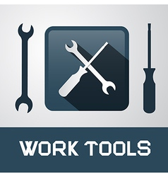 Spanner and Screwdriver Icons - Work Tools vector