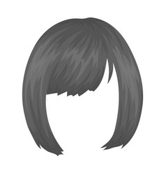 Squareback hairstyle single icon in monochrome vector