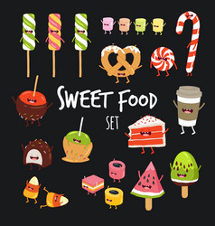 sweet fast food set vector image