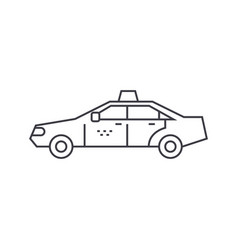 taxi thin line icon concept taxi linear vector image