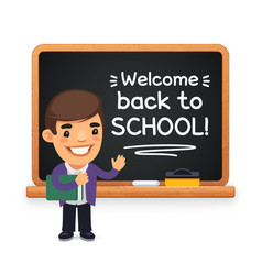 teacher at school blackboard vector image