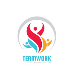 teamwork business logo template creative vector image