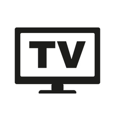 The tv icon Television and telly telecasting vector image