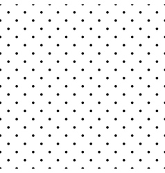 Tile pattern black polka dots on white background vector