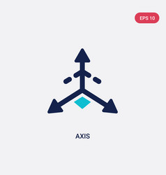 Two color axis icon from geometry concept vector